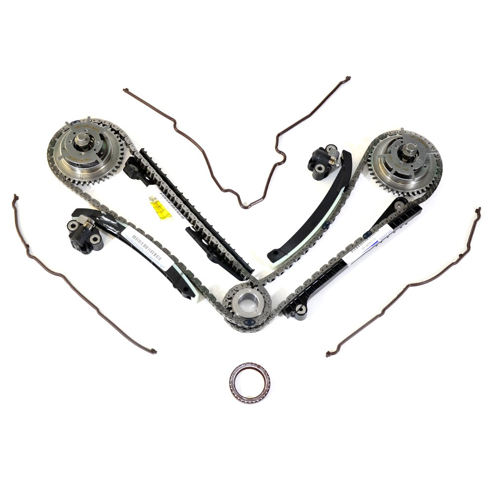 Oem new ford 5 4l camshaft phaser sprocket timing tensioner guides chain kit