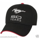 NEW OEM Ford Mustang FIFTY YEARS 50 Anniversary Black / Red Hat Cap - Cobra Boss
