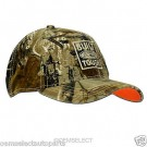 "NEW OEM ""Built Ford Tough"" Realtree Camo / Orange  Hat - ONE SIZE - Genuine Ford"