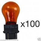 NEW OEM Sylvania 3157NA 3157NAK Amber 12 Volt Bulb, Signal, Parking 100 PCS BULK